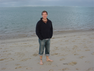 Seth Frietze on beach
